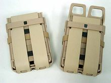 Airsoft fast mag 파우치 molle sand army 그린 블랙 5.56 m4 매거진 파우치, double mag clip tactical(China)
