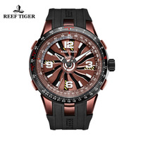 Reef Tiger/RT Brand New Design Military Watches Mens Sport Rubber Strap Automatic Rotate Pilot Watch Relogio Masculino RGA3059