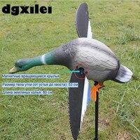 Toptan 6 V Uzaktan Kumanda Ile Avcılık Için 4 * AA Pil Plastik Drake Decoys Mıknatıs Iplik Kanatları