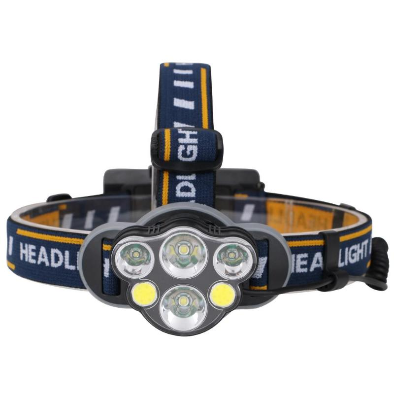 6LED T6 COB XPE Super Bright Outdoors Headlamp USB Charging Headlight Fishing Hunting Head Torch Flashlight r3 2led super bright mini headlamp headlight flashlight torch lamp 4 models