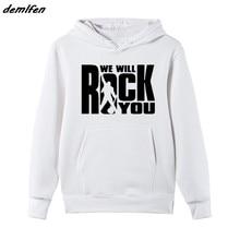 50e865422fd Rock Music Band Queen Sweatshirt Queen We Will Rock You Men Fashion Fleece  Hoodie Rock Roll Star Jacket Coat Streetwear