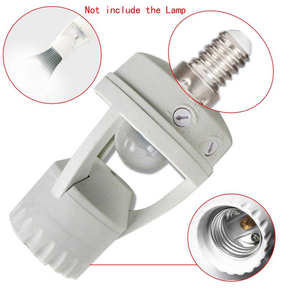 E14/B22 Infrarouge PIR Motion Sensor LED Lumière Lampe Ampoule Titulaire Socket Commutateur 110-240 V CLH @ 8