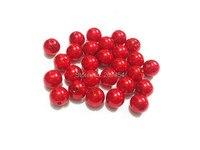 (Elija el tamaño primero) 6mm/8mm/10mm/12mm/14mm/16mm/18mm /20mm/23mm/25mm/rojo acrílico imitación perla Cuentas