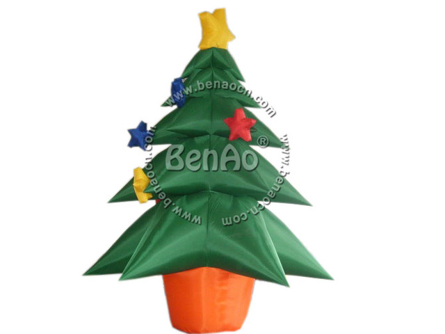 X068 Завод продажа 4 м высота открытый надувные Новогодние елки для санта украшение партии