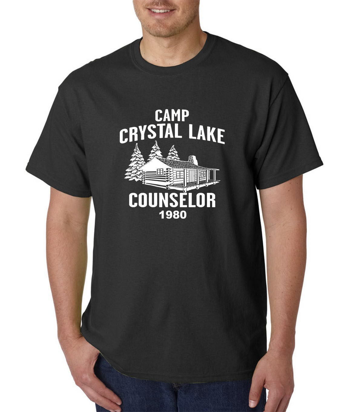 47c7d7898276 Camp Crystal Lake Counselor T-Shirt -Friday 13th Jason Voorhees Freddy  Halloween Normal Short Sleeve Cotton T Shirts