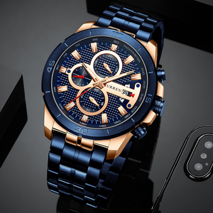Image 2 - CURREN Men Watch Top Luxury Brand Stainless Steel Business Clock Chronograph Army Sports Quartz Male Watches Relogio Masculino