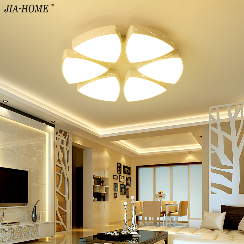 2017 Led ceiling light for bedroom Dimming or switch with flower style Light Fixtures Modern Ceiling Lamp Luminaire Lustre noosion modern led ceiling lamp for bedroom room black and white color with crystal plafon techo iluminacion lustre de plafond