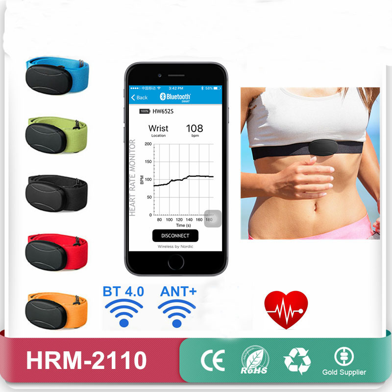 Heart Rate Monitor Bluetooth 4.0 And ANT Smart Chest Strap Belt Heart Pulse Sensor Cardio Monitor Runtastic Heart Rate Meter BLE