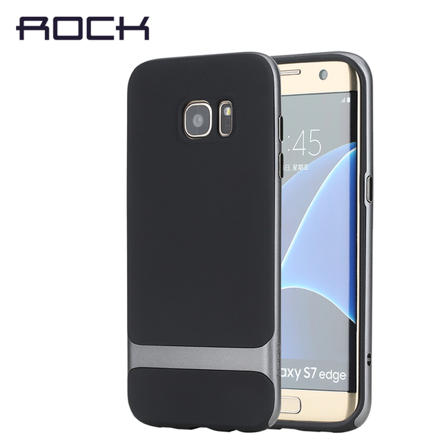 save off 09c38 bd3ce US $12.48 |for samsung galaxy s7 & s7 edge case ROCK Royce Luxury PC  Silicone For samsung s7 Case Hybrid Slim S7 Retail packagid-in Fitted Cases  from ...