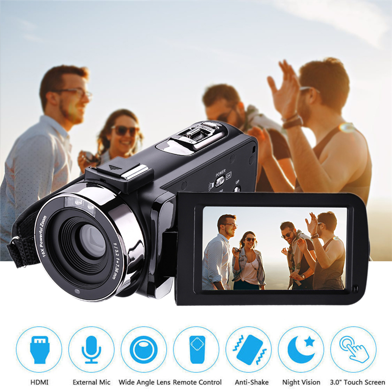 Digital Cameras Remote Control Infrared Night Vision Handy Camera HD 1080P 24MP 16X Digital Zoom Video Camera 2 lcd hd 1080p mms digital infrared