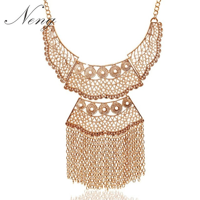 Za Fashion Multi Layer Maxi Collares Necklace Gold 2017 Bohemia Hollow Long  Tassel Statement Necklace Gros 9d098edb4feb
