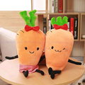 50 cm Amantes Zanahoria Peluches Muñeca de Peluche Niño Niña Bebé de Juguete de Regalo de Boda Almohada Suave
