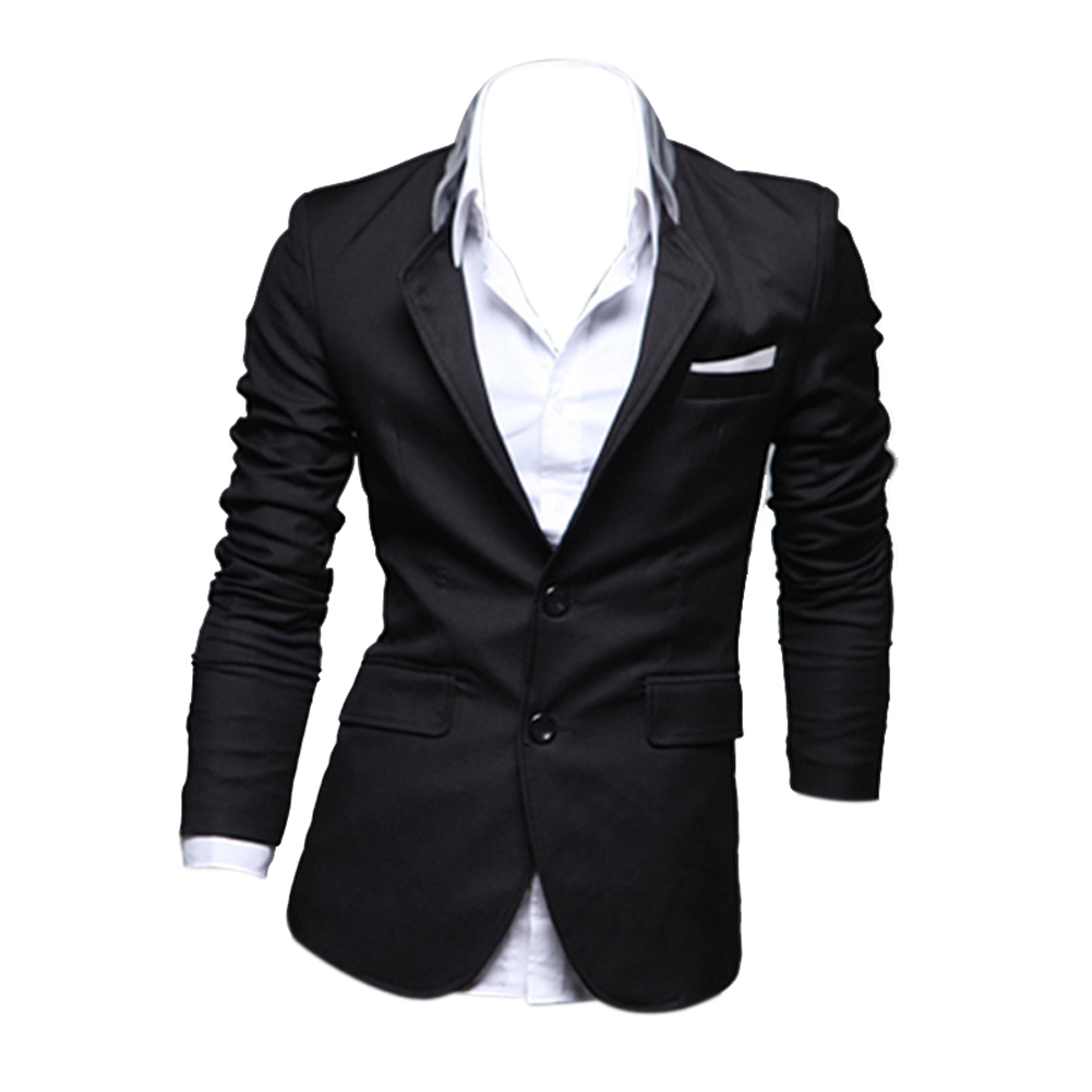 BFYL 2017 New Arrival Patchwork Men's Suit Jacket Casual Slim Fit Dress Blazer coats Two Button Suit Blazer Coat Jackets