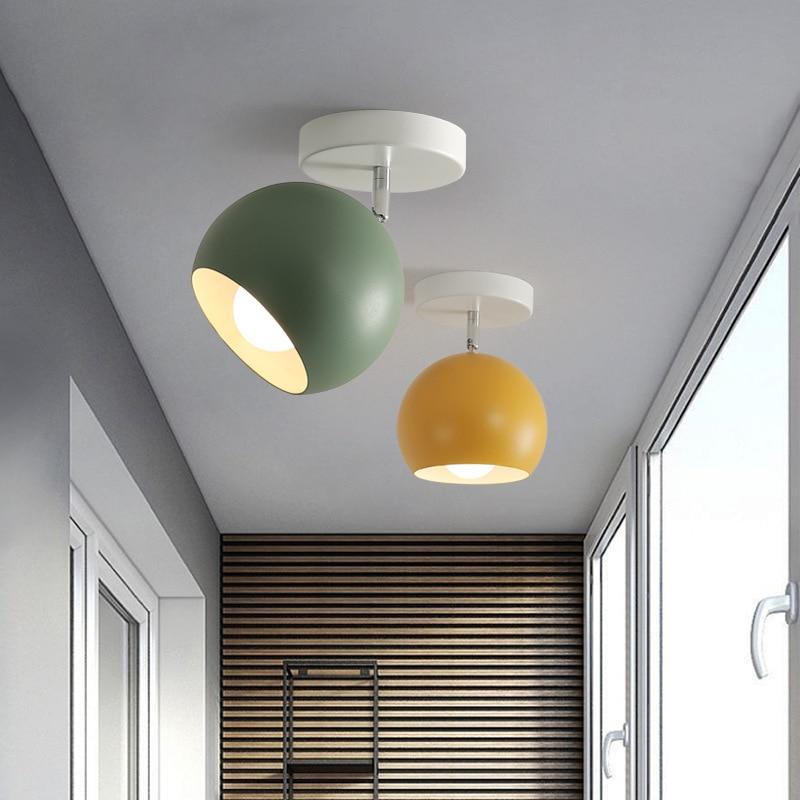 Nordic Макарон потолочные светильники современный светодиодный потолочный светильник для гостиная лампа для спальни веранды, коридора корид...