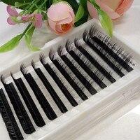 도매-인기있는 블랙 L 컬 개별 속눈썹 수제 눈 속눈썹 확장 트레이 메이크업