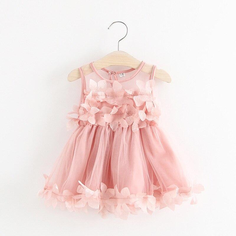 Fashion summer Kids Baby girls Dress 2018 sleeveless Lace Birthday Dress Newborn Baby Girl Clothes Princess Tutu Dresses