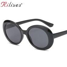 e4e92986b79f1 RILIXES Oval óculos de Sol Glasse Óculos da moda Óculos De Sol Das Mulheres  Dos Homens Hip Hop Feminino Masculino Homens Rodada .