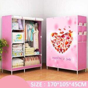 Image 4 - Actionclub armario de tela no tejida, armario de tela plegable, gran estante de almacenamiento, muebles de dormitorio