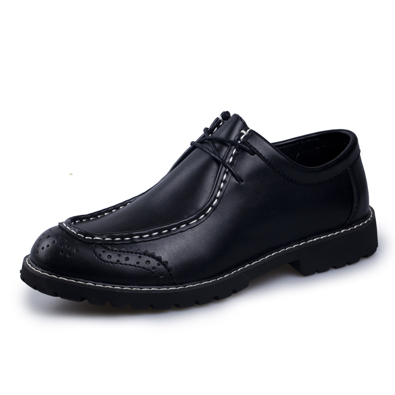 Bullock Men's Oxfords Shoes 2016 Spring Autumn British Carved Leisure Shoes Fashion Retro Pointed Toe Brogue Shoes For Men men fashion oxfords pointed toe retro