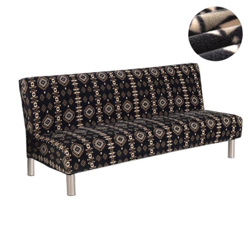 160-195 cm housse de canapé-lit en peluche tout compris housse de canapé sans accoudoir lit pliant élastique tissu épais nouvelle housse de canapé