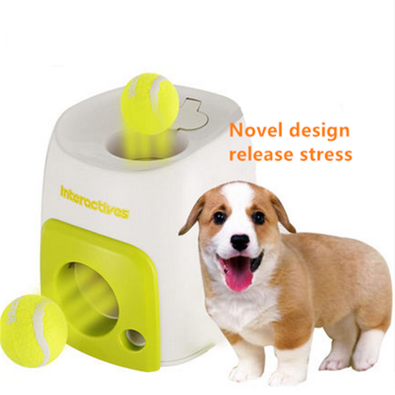 Ball Launcher Pet Dog Toys For Puppies Squeaky Chew Mascotas Hond Perro Dog Toys For Small