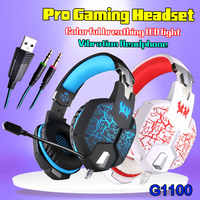 YCDC KOTION EACH G1100 3 5mm Gaming Headphone Casque Headset Mic Breathing LED For Phone Laptop