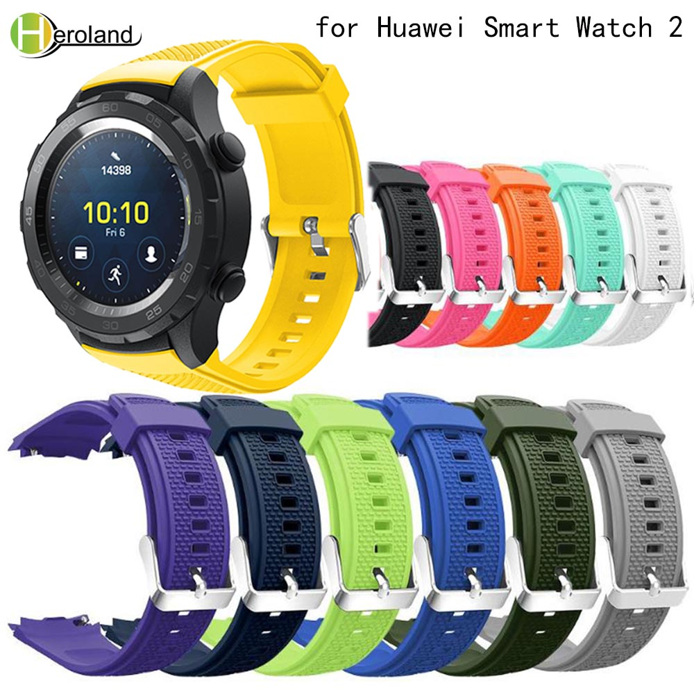 Replacement Sport Silicone Watch Strap For Huawei Watch 2 Wristband Straps Wrist Strap Accessories Bracelet Hot Lightweight SoftReplacement Sport Silicone Watch Strap For Huawei Watch 2 Wristband Straps Wrist Strap Accessories Bracelet Hot Lightweight Soft