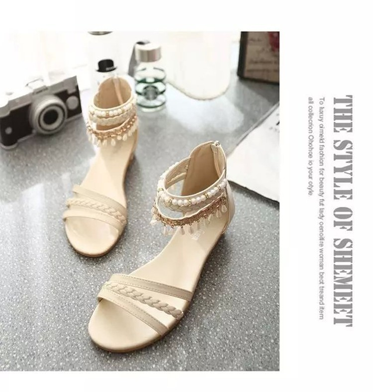 women sandals 2016 fashion Bohemia gladiator sandals women beading sandalias mujer wedges shoes for women 2016 new spring DT141 (13)