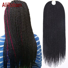 "AliRobam Crochet Braid Hair Havana Mambo Twist 14"" 18"" 22"" Synthetic Kanekalon Senegalese Twist Hair Extensions 30 Roots/pack(China)"