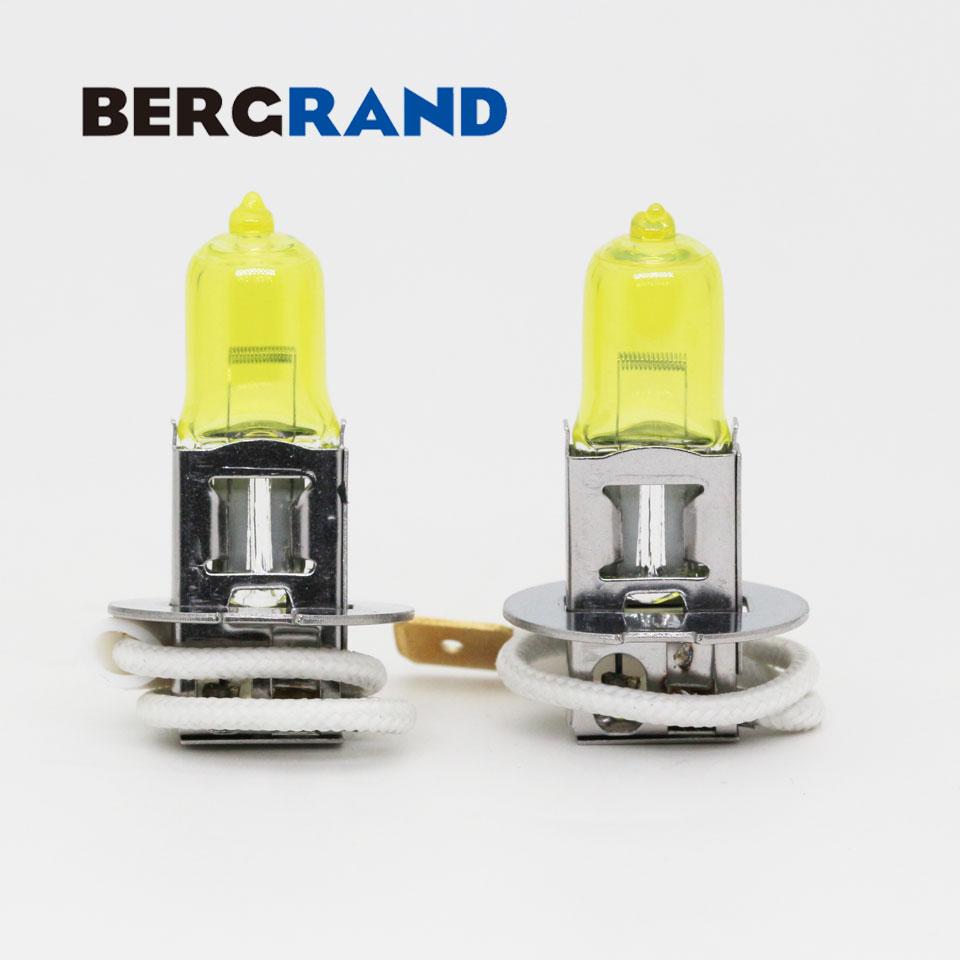 2PCS H3 Halojen lampa sarı 12V 55W 2700K Xenon qaz başlığı - Avtomobil işıqları - Fotoqrafiya 2