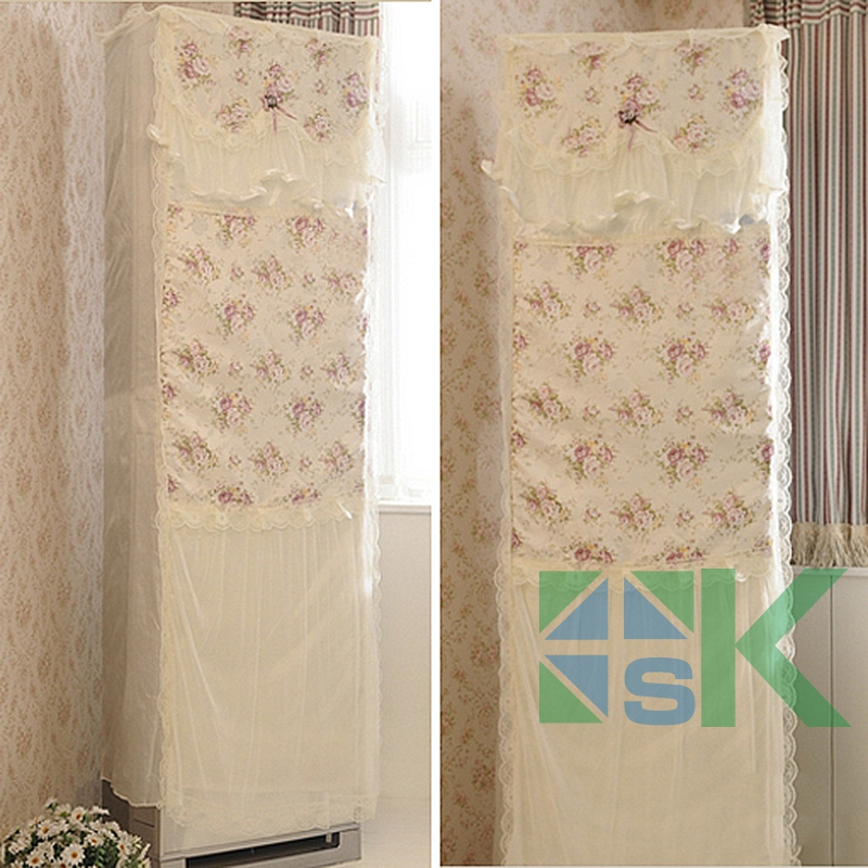 1pcs Romantic Pastoral Lace Standing Air Conditioner Cover Lace Dust Proof  Cover All Inclusive Cover