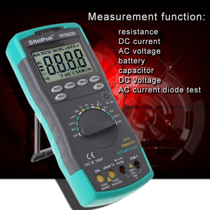 Digital Multimeter Meter Amp/Ohm/Volt Tester with Backlight LCD Display Tool New L15