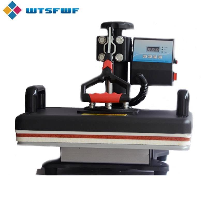 Freeshipping Wtsfwf 30*38CM 8 in 1 Combo Heat Press Machine 2D Thermal Transfer Printer for Cap Mug Plate T shirts Printing - 2
