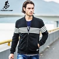 Pioneer CampFree Shipping 2015 Autumn New Arrival Mens Cardigan Hoodies Sweatshirt Casual Cotton Sportswear Mens Coat