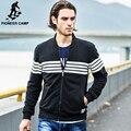 Pioneer Camp brand clothing Весна Осень Высокое качество Кардиган толстовка мужчины пальто куртки мужчины толстовки кофты мода повседневная