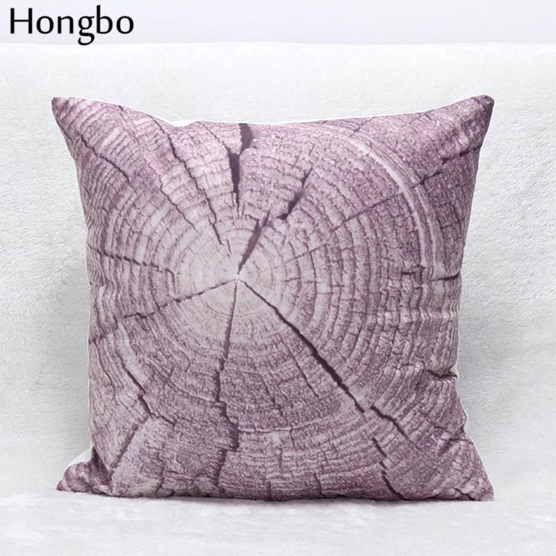 Hongbo 1 Pcs Purple Trees Texture Geometric Texture Gold Stripes Prints  Cushion Cover Sofa Throw Pillow Case