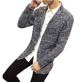2017 Spring Autumn Fashion Knitted Sweater Men Solid Casual Slim Korean Long Cardigan Men (Asian Size)