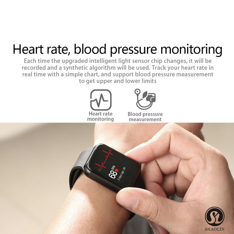 Reloj inteligente Serie 4 reloj inteligente para Apple iOS iPhone Android reloj de pulsera deportivo Bluetooth pulsera Fitness Tracker (botón rojo) - 3
