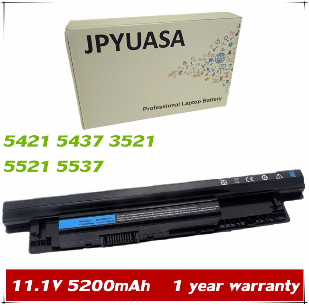 JPYUASA 11.1V 5200mAh MR90Y G019Y 0MF69 6HY59 8TT5W 9K1VP Laptop Battery For Dell Inspiron 14R 5421 5437 15R 3521 17R 5521 5537