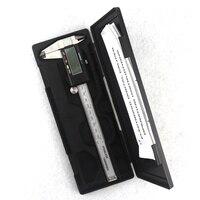 Electronic Digital Vernier Caliper 150mm Stainless Steel Rule Gauge Micrometer 6 Inch LCD Measuring Ruler Tool