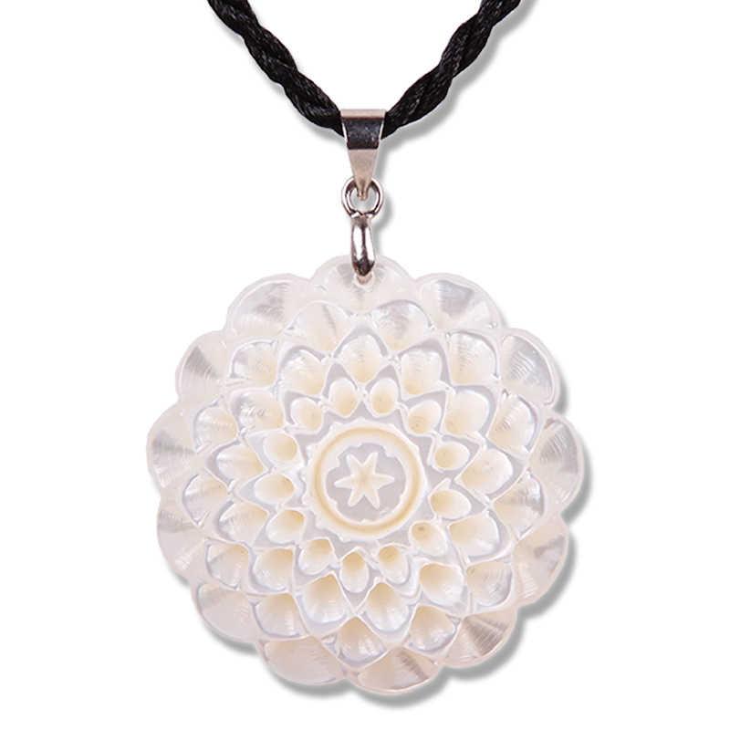 Jewelry Shells Snail Fish Bone Carved Flower Girl Pendant Couple Birthday Gift Girlfriend Necklace Shell Snail Bone Carvingsnail Shell Aliexpress