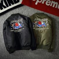 2016 Fashion Tide Couple Large Yards Thicker Coat Ma1 Air Force Pilot Jacket Embroidery Baseball Clothing