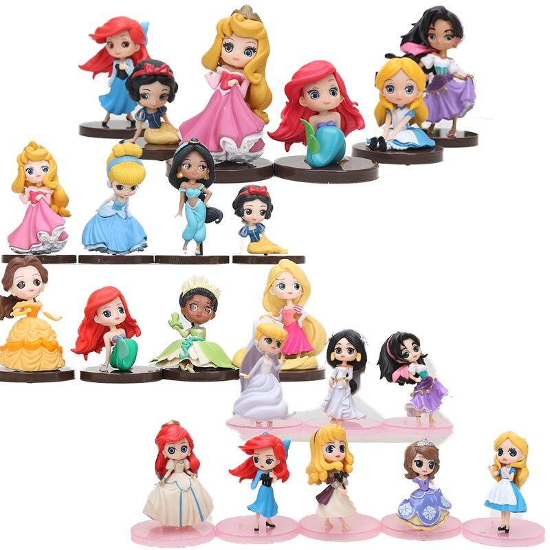 Q posket Disney Princess Peter Pan Tinker Bell Action Figure Toy Girl Gift Decor