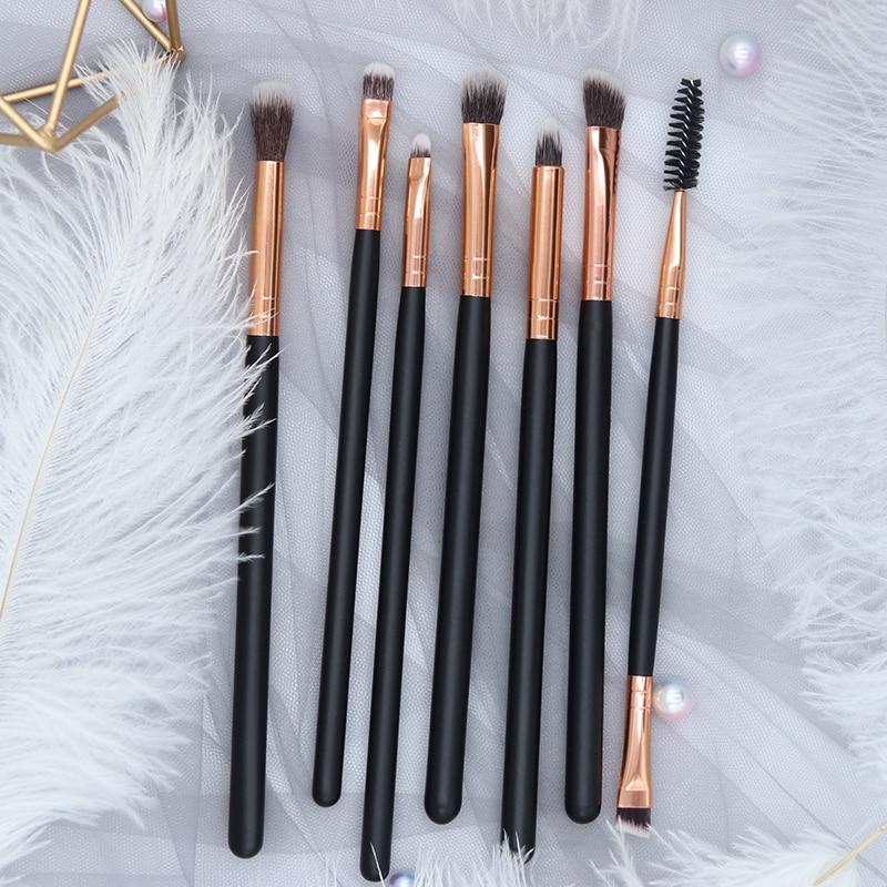 BBL 7 Essential Makeup Eye Brush Set - Eyeshadow Eyelash Eyeliner Tapered Blending Crease Kit Make Up Brushes Pincel Maquiagem 2