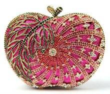 Freies verschiffen!! A16-1 apple, Mode top kristallsteinen ring handtaschen für damen nette parteibeutel