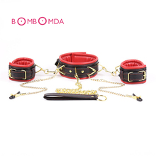 Fetish Sex Bondage Restraints Nipple Clamps Collar  Set Sex Toys For Couples Slave Handcuffs Fun Adult Games Erotic Toys