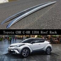 Toyota chr C-HR izoa 2017 2018 2019 루프 랙 레일 바 수화물 캐리어 바 탑 크로스 랙 레일 박스 알루미늄 합금 2 pc