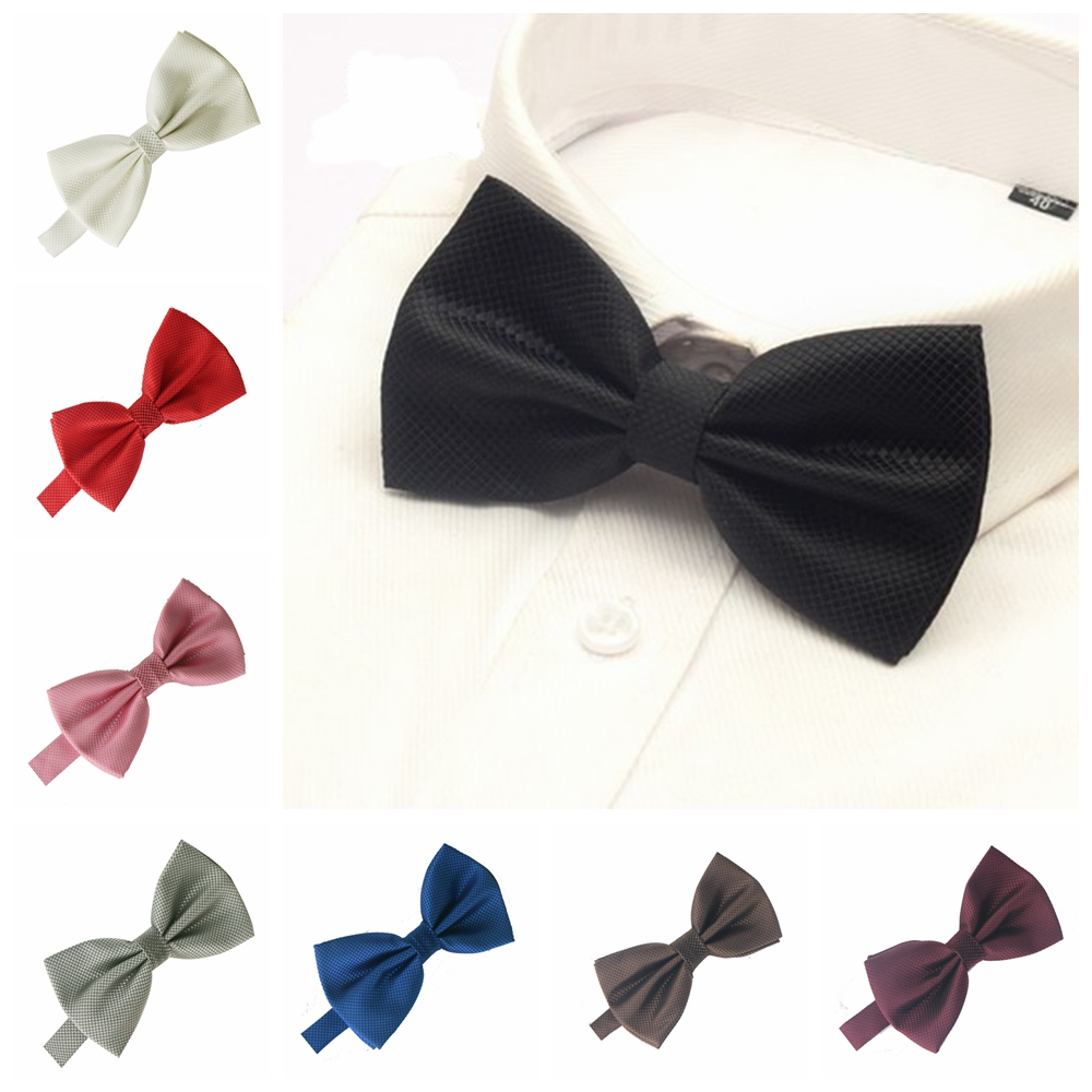 Men Bowtie For Mens Bow Tie Solid Bowties Black Bowtie Gold Bow Tie Red Green Pink Blue White Bow Ties Men Classic