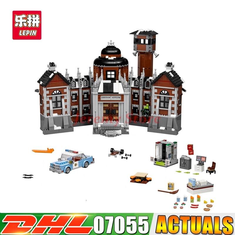 2018 DHL Lepin 07055 1628pcs New Batman Movie Series THe Arkham`s Lunatic Asylum Set Building Blocks Bricks Toys 70912 batman volume 2 joker s asylum