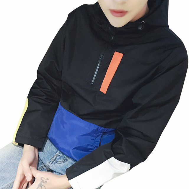 New Fashion Trend Men Pullover Jackets Designer Half Zipper Collar Casual Jacket Men Leisure Coats Bomber Jacket 3XL 4XL 5XL